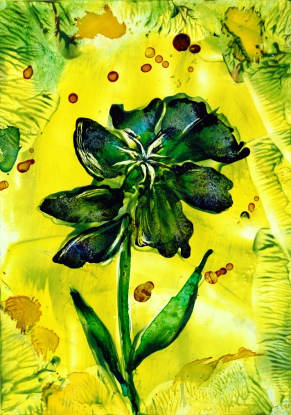 Alcohol ink flower