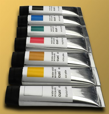 Water soluble wax paints